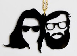 Beards + Mustaches + Rapist Glasses = Awesome Acrylic Pendant