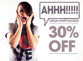 "Urban Misfit Society Holding 30% Off ""Oops"" Sale"