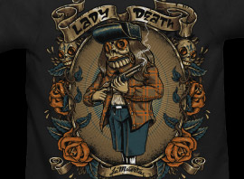 "La Muerta Post Teaser Video For New ""Lady Death"" Tee"