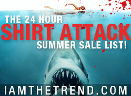 Shirt Attack 24 Hour Sale List! Over 60 Indie Clothing Lines With HUGE Discounts!