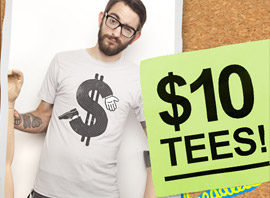 Threadless $10 Tee Sale Ends In A Few Hours!!!