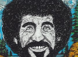 Zeb Love Releases Awesome New Bob Ross Print