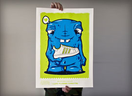 SNEAKER MONSTER / screenprint