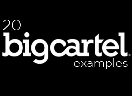 20 Awesome Big Cartel Store Examples