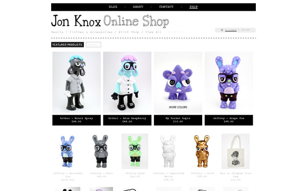 20 awesome big cartel store examples iamthetrend very clean design pronofoot35fo Images