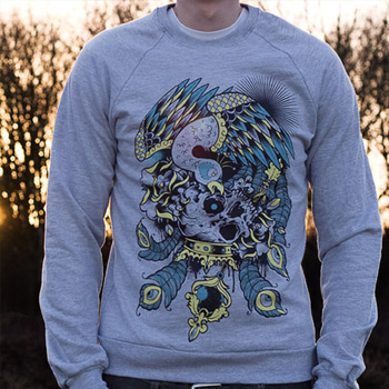 BRAVE-ENOUGH-SKULL-CREW-NECK