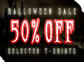 Burn Card Clothing Massive Halloween Sale!