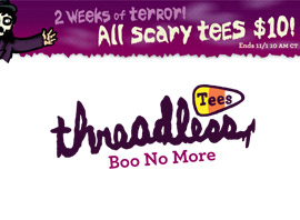 Threadless $10 Scary Tee Sale!