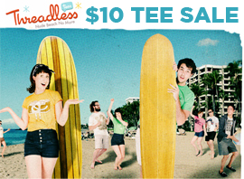 Threadless Beach Sale! All Tees Only $10
